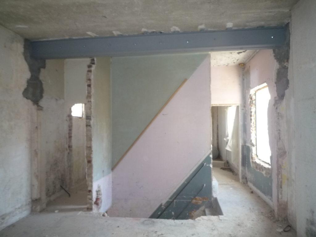Maçonnerie: Ouverture mur porteur et etaiement à Villejuif 94800 (fin)