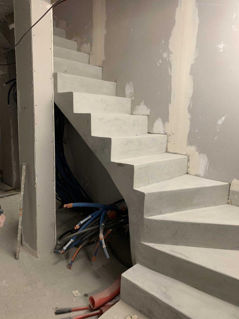 Creation D Une Tremie Escalier trémie / escalier béton paris -